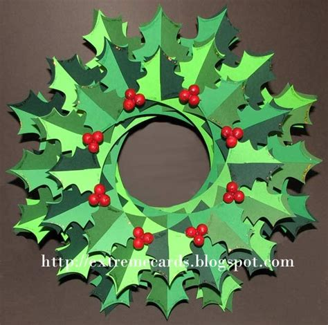 printable paper holly wreath extreme cards and papercrafting holly wreath torus