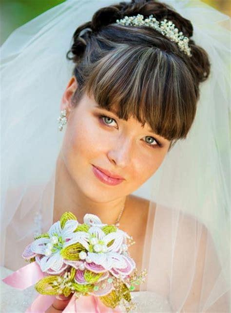 Hochzeitsfrisur Mit Pony by Brautfrisuren Mit Pony