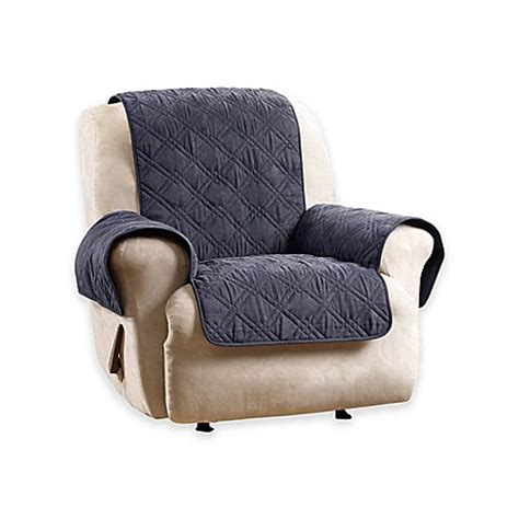 blue recliner covers buy sure fit 174 deluxe non skid waterproof recliner cover in