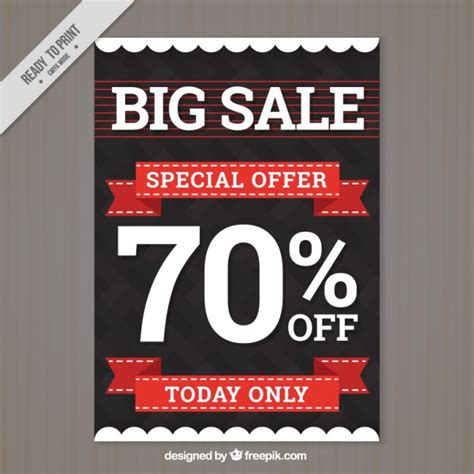 sale poster template free modern big sale flyer template vector free