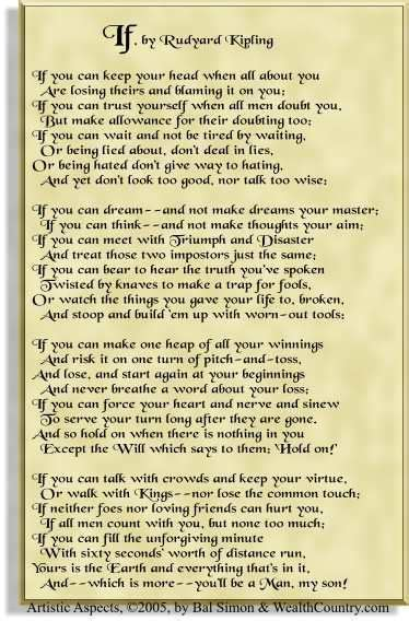 quot if quot by rudyard kipling tattooed line by line scattered