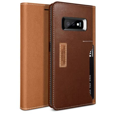 obliq  samsung galaxy se wallet case brown