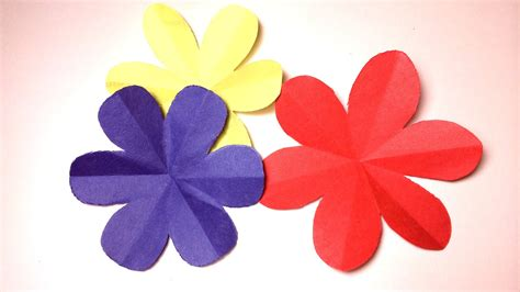 How To Make Petals Out Of Paper - how to cut a 6 petal flower diy paper craft