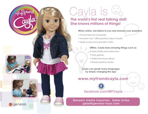 my friend cayla guide a smart doll meet the new my friend cayla doll review
