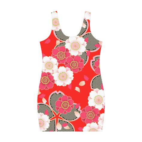 japanese vest pattern red white japanese kimono pattern medea vest dress model