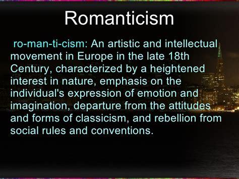 Romantic poetry.