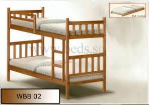 double deck bed solid wood double deck bed wbb02 furniture appliances