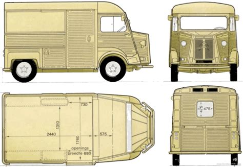 car blueprints citroen h blueprints vector drawings