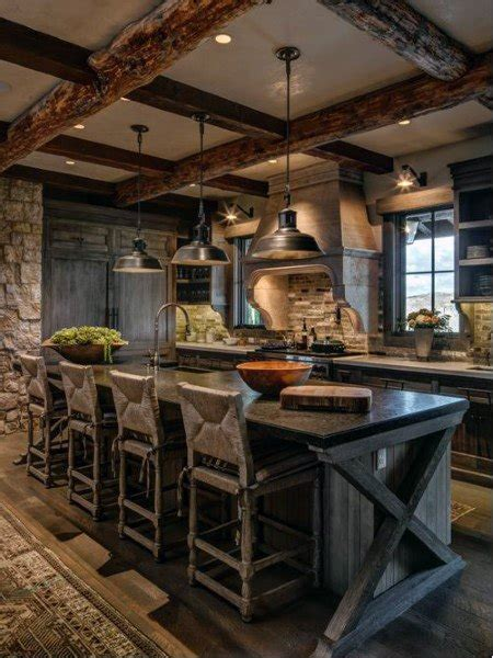 rustic kitchen design ideas top 60 best rustic kitchen ideas vintage inspired
