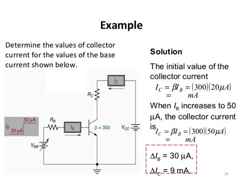 what is the value of current in a resistor 2 and b resistor 3 topic 4 bipolar junction transistors