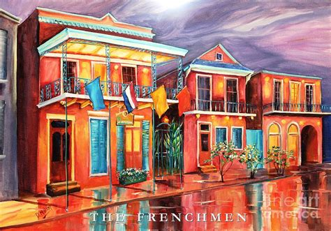Duvet In French The Frenchmen Hotel New Orleans Painting By Diane Millsap