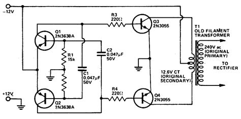 ac transformer diagram dc to dc ac inverter circuit diagram electronictheory