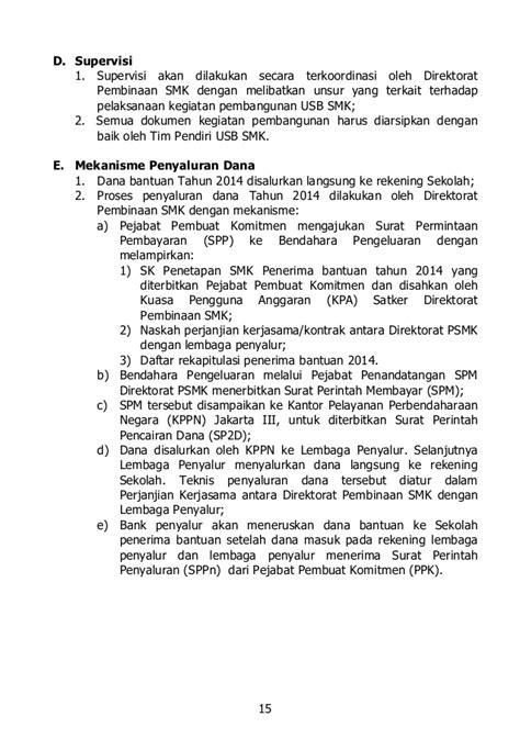Contoh Surat Perintah Beserta Biaya by 08 Ps 2014 Bantuan Unit Sekolah Baru Smk