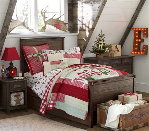 christmas bedroom decorations ideas from pottery barn christmas charm christmas decoration for boy bedroom