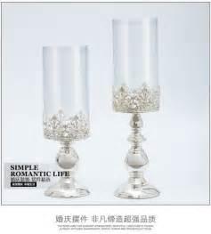 kerzenhalter silber glas kaufen gro 223 handel glas leuchter aus china glas