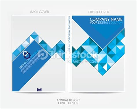 design cover with name rapport annuel conception de couverture clipart vectoriel