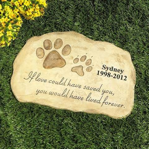 Pet Dog Cat Memorial Personalized Engraved Garden Stone Memory Marker Keepsake