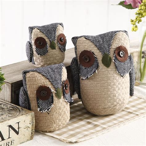 Handmade Articles For Sale - aliexpress buy 3pcs lot cloth jute owl figurine