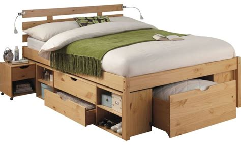 29 off ultimate storage double bed frame pine effect