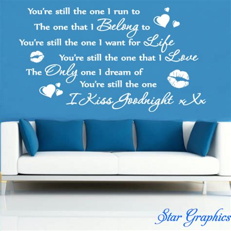 You Re Still The One shania you re still the one vinyl transfer sticker