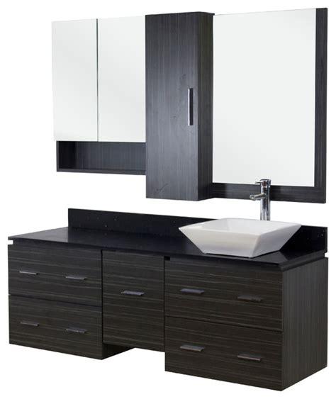 houzz vanity plywood melamine vanity set grey 60 quot modern