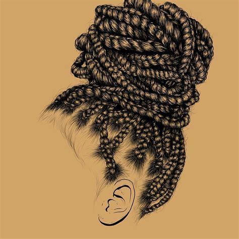 Drawing Of A With Braids by Hair By Gaksdesigns Black Hair Information