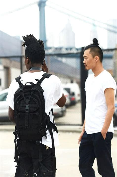how to style a top knot for men the undercut bun aka the top knot