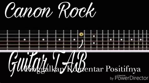 tutorial gitar rock tutorial canon rock guitar tab versi slow mudah dipahami