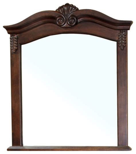 traditional bathroom mirrors ashby 10 quot x33 5 quot wall mirror walnut traditional