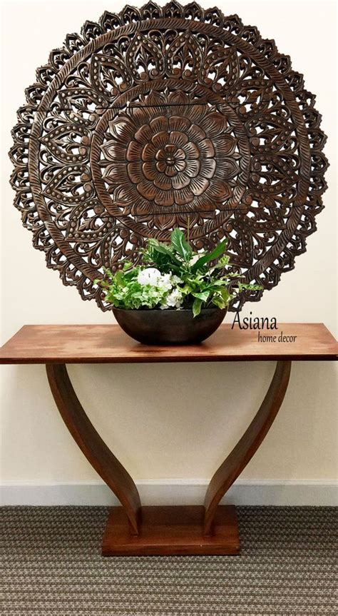 elegant wood carved wall plaquefloral wood wall panels asiana home decor