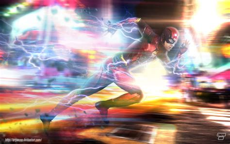 Flash L by Fanart The Flash Running By Bryanzap Dc Cinematic