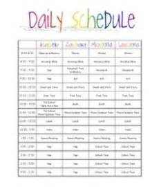 Kids daily schedule more nanny schedule daily routines kids stuff