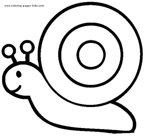 Snail Coloring Pages Color Plate Coloring Sheet Simple Colouring Pages
