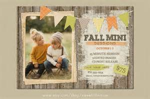 fall mini session template flyer templates on creative