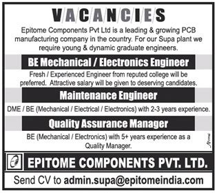design engineer pune openings with epitome components mechanical