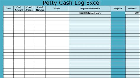 petty template xls petty log excel xlstemplates