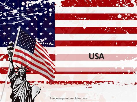 american flag powerpoint template free usa powerpoint template