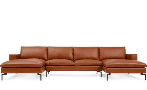 u shaped sectional with ottoman new standard u shaped leather sectional sofa hivemodern com