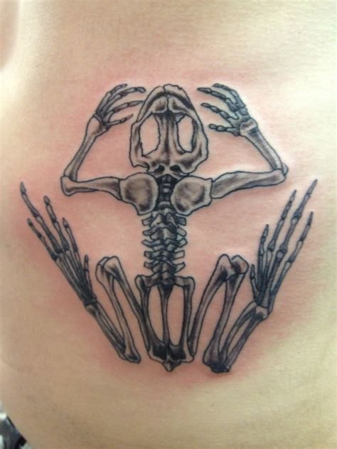bone frog tattoo navy seal frog skeleton