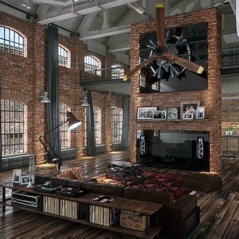 attractive Apartment Decorations For Guys #5: amazing-loft-guys-ultimate-bachelor-pad-with-brick-walls.jpg
