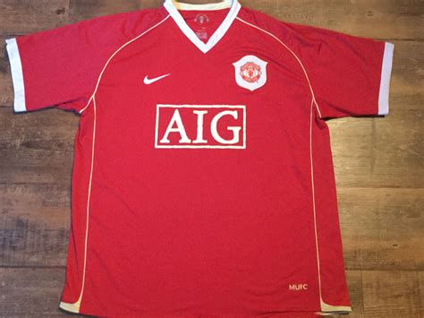 Jersey Retro Manchester United Home 2007 classic football shirts 2006 manchester united vintage soccer jerseys