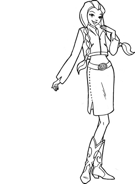 totally spies coloring pages fantasy coloring pages