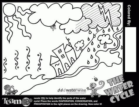 coloring book using water water cycle for coloring page coloring home