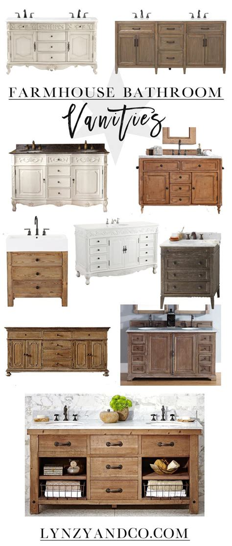 Farmhouse Style Bathroom Vanity Best Farmhouse Bathroom Vanities Lynzy Co