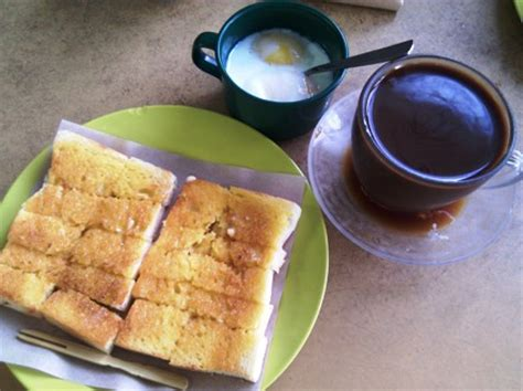 Toaster Roti Bakar 187 breakfast roti bakar with half boiled egg it with