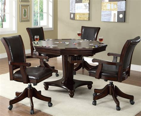 Gaming Dining Table 100873 Dining Gaming Table In Espresso W Options