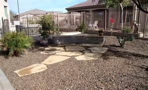 Landscape Rock Arizona Desert Landscaping Flagstone Az Flag Flush With The