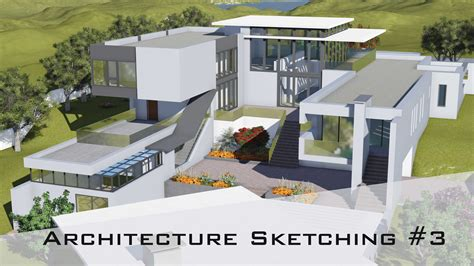 modern architectural designs sketch of a house modern house