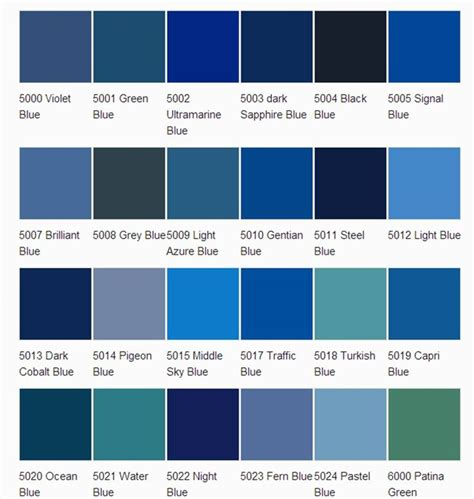 shades of blue color names blue green color names pictures to pin on pinterest