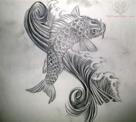 koi fish tattoo designs black and white koi fish balck and white